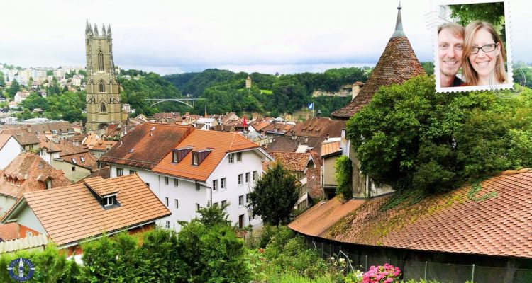 View of Od Town, Fribourg, Switzerland