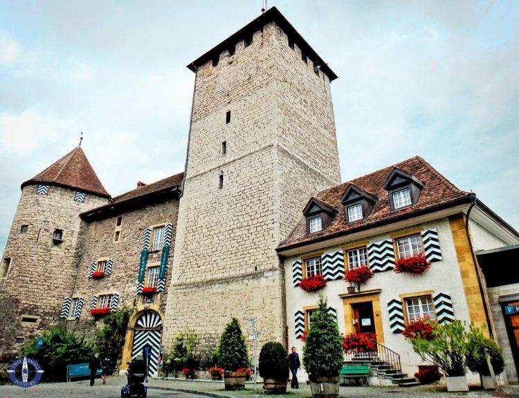 Medieval architecture in Murten, Switzerland