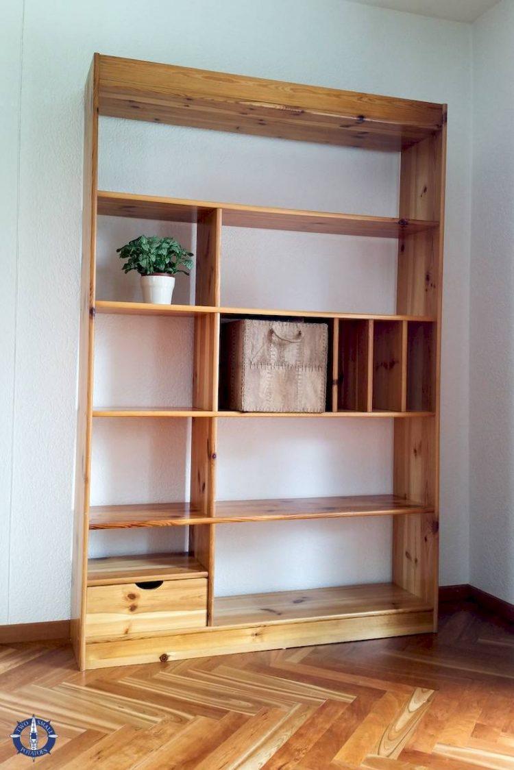 Bookshelf we find when furnishing a home in Switzerland