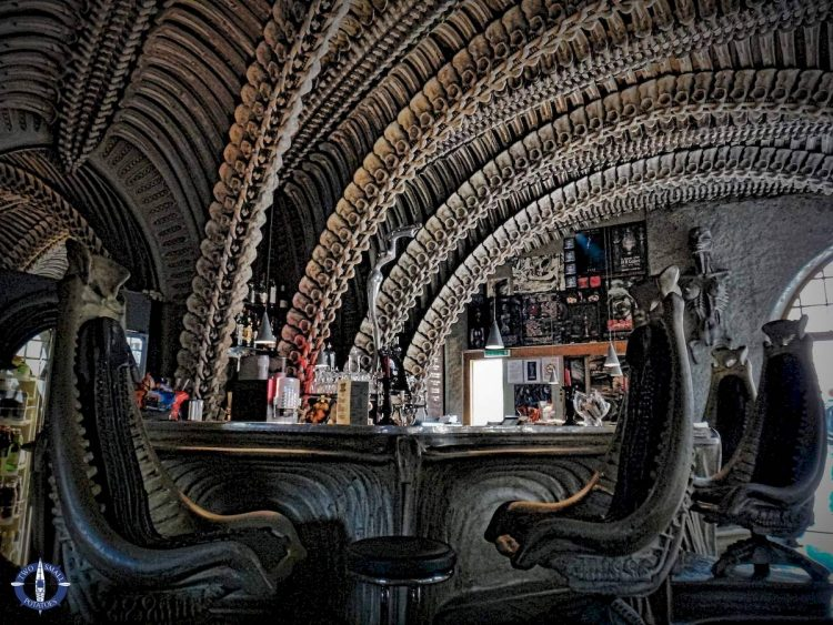 HR Giger Alien Bar in Gruyeres, Switzerland