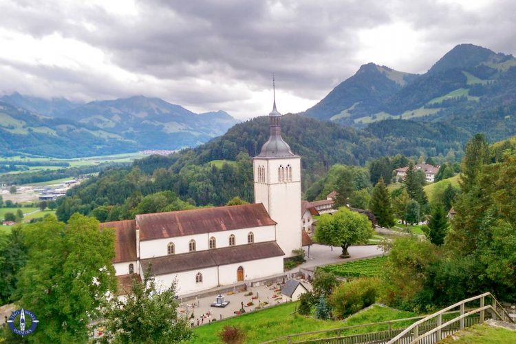 Eglise Saint Theodule church in Gruyeres, Switzerland