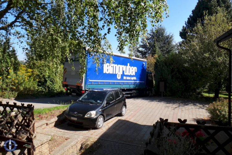 Our shipment of household goods overseas arrives in Switzerland