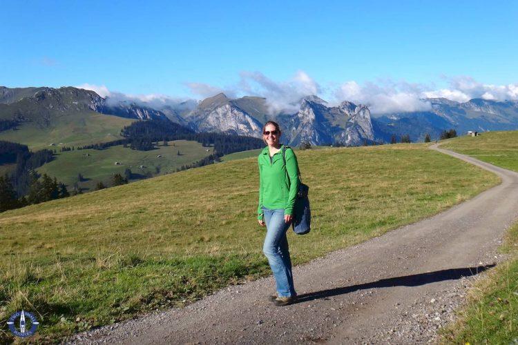 Trail at Jaun Pass, Switzerland