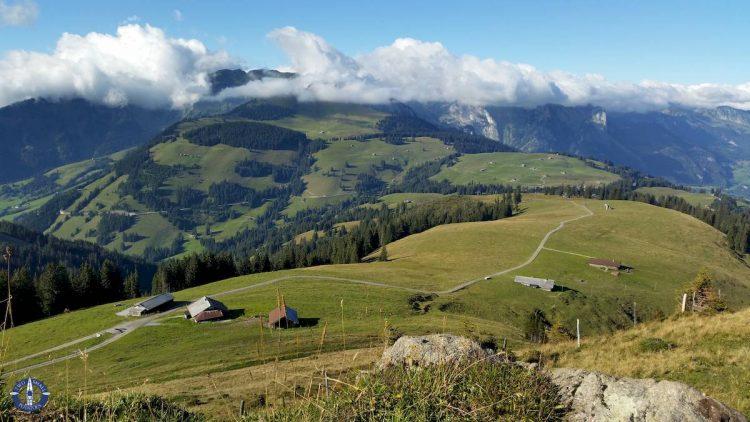 Pre-Alps while hiking at Jaun Pass in Switzerland