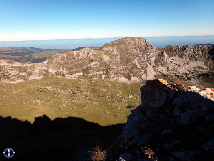 View of Kaiseregg from Schafberg Peak in Switzerland