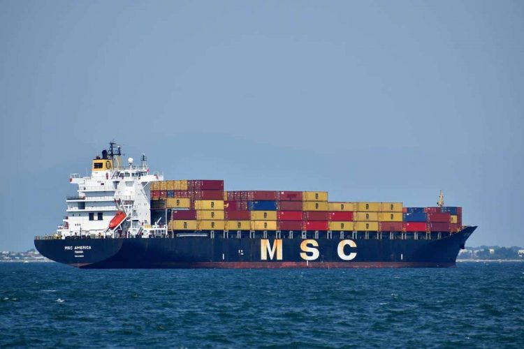 MSC America cargo ship, Pixabay royalty-free image