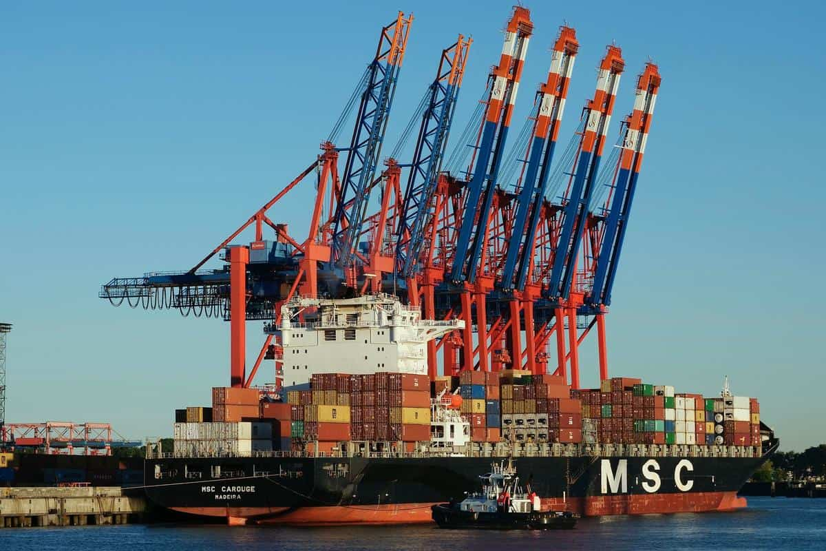MSC container ship, Pixabay royalty-free image