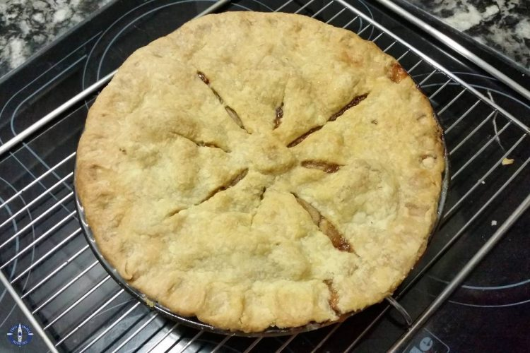 The first pie I baked in our new oven for Trav's birthday in Switzerland