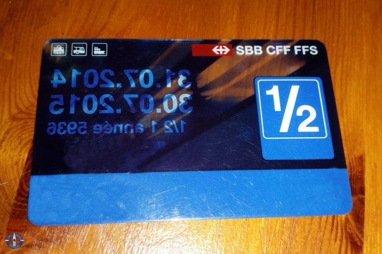 Annual 1/2 fair Swiss public transportation pass with SBB