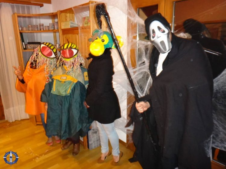 Portuguese and Swiss friends at our Halloween party in Switzerland