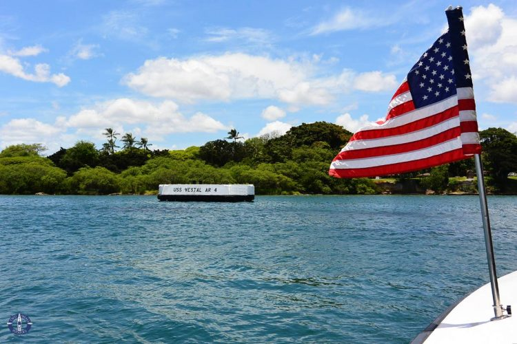 USS Arizona Memorial tour in Oahu, Hawaii for sale by Two Small Potatoes on Fine Art America
