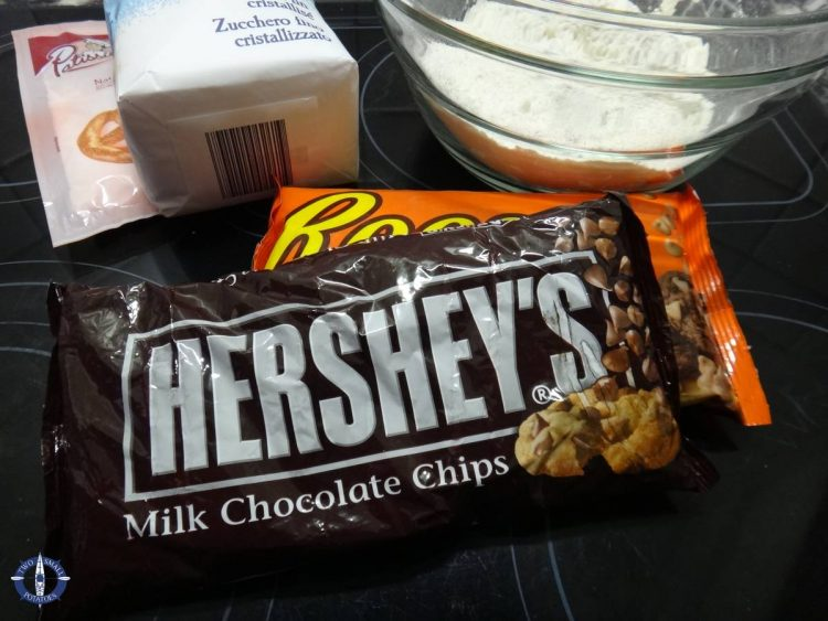 Hershey's and Reese's chocolate chips for chocolate chip cookies in Switzerland