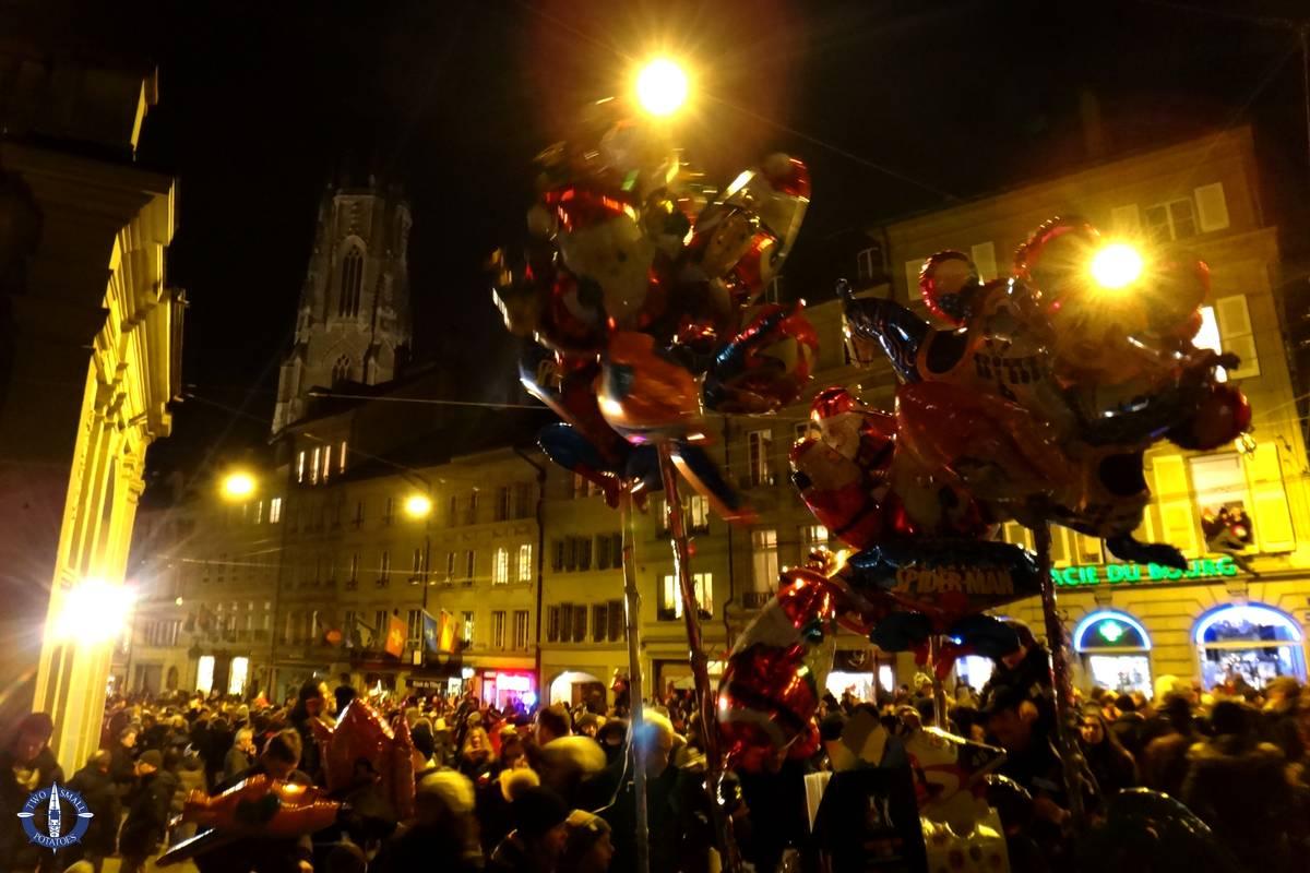 Parade on Saint Nicholas Day in Fribourg, Switzerland