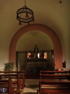 Interior of La Brillaz Chapel near Onnens, Switzerland