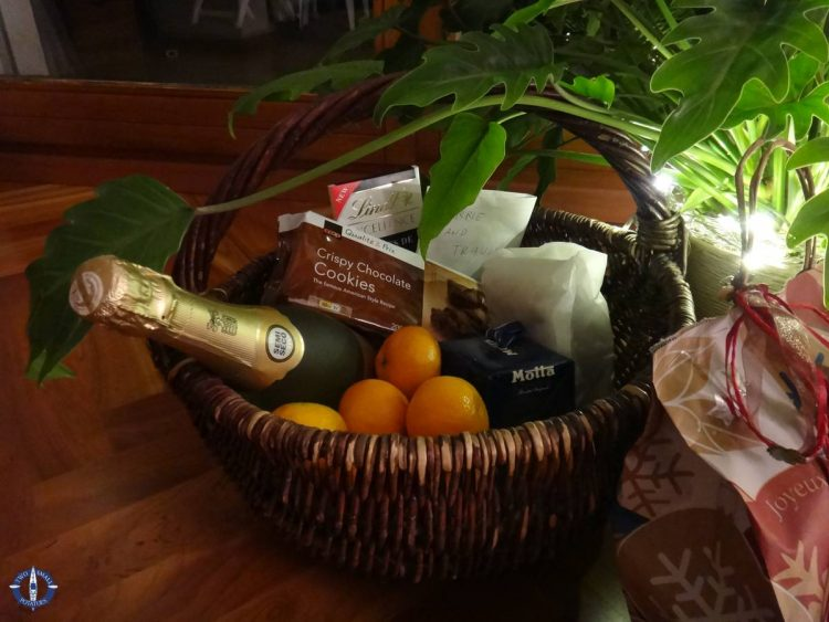 Surprise gift basket from a friend on our first Christmas in Switzerland