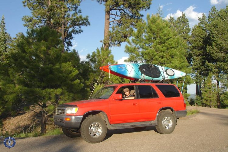 Travis in his beloved Toyota 4Runer in New Mexico