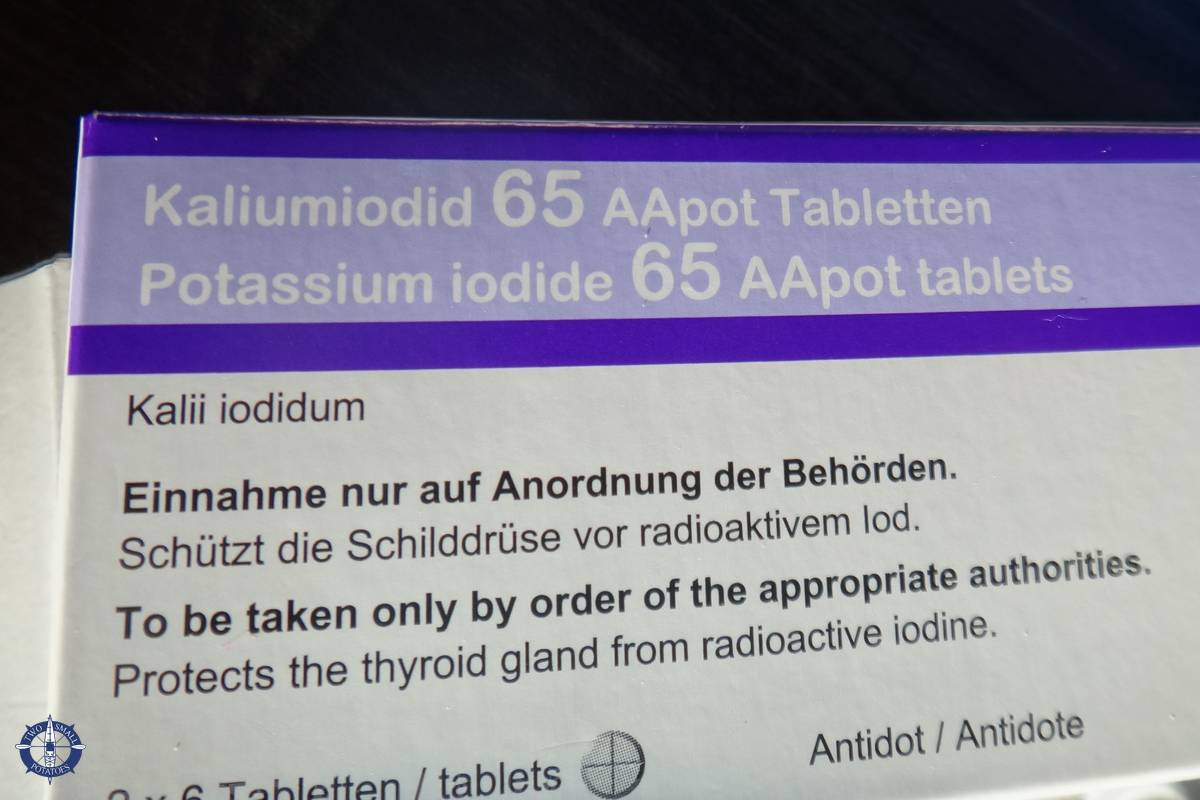 Iodine pills for nuclear fallout from Swiss government
