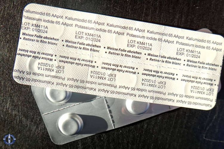 Iodine pills in case of nuclear fallout from the Swiss government