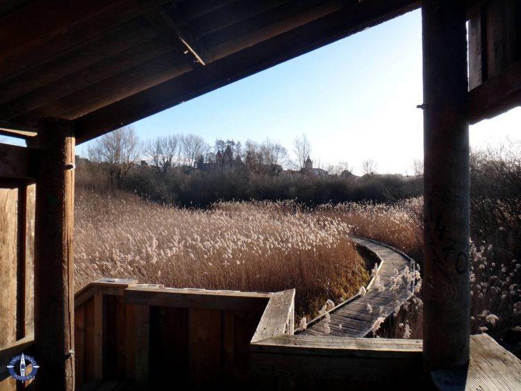 Viewing platform at La Grande Gouille, a pond in Estavayer-le-Lac