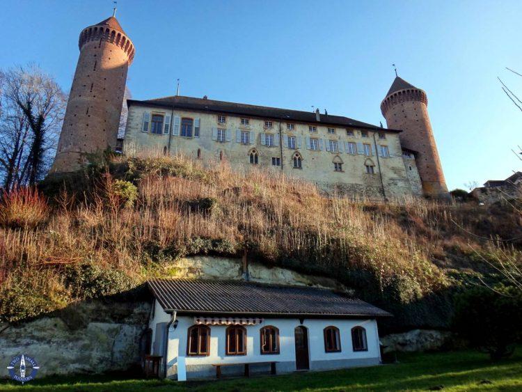 Chenaux Castle in the town of Estavayer-le-Lac, Switzerland
