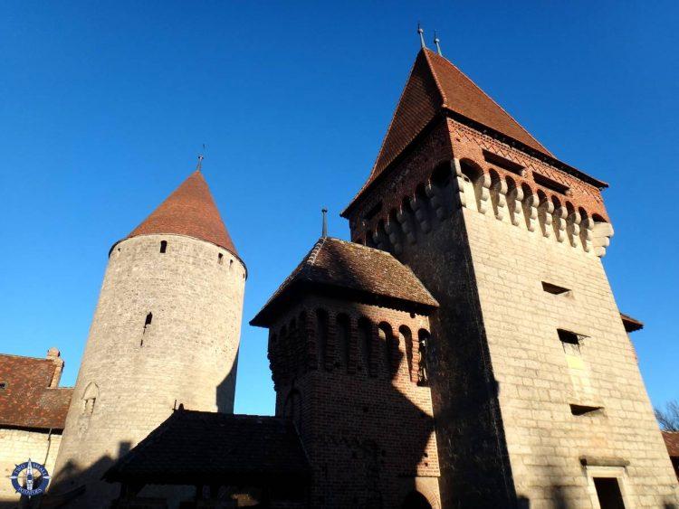 Chateau de Chenaux castle in Fribourg canton, Switzerland