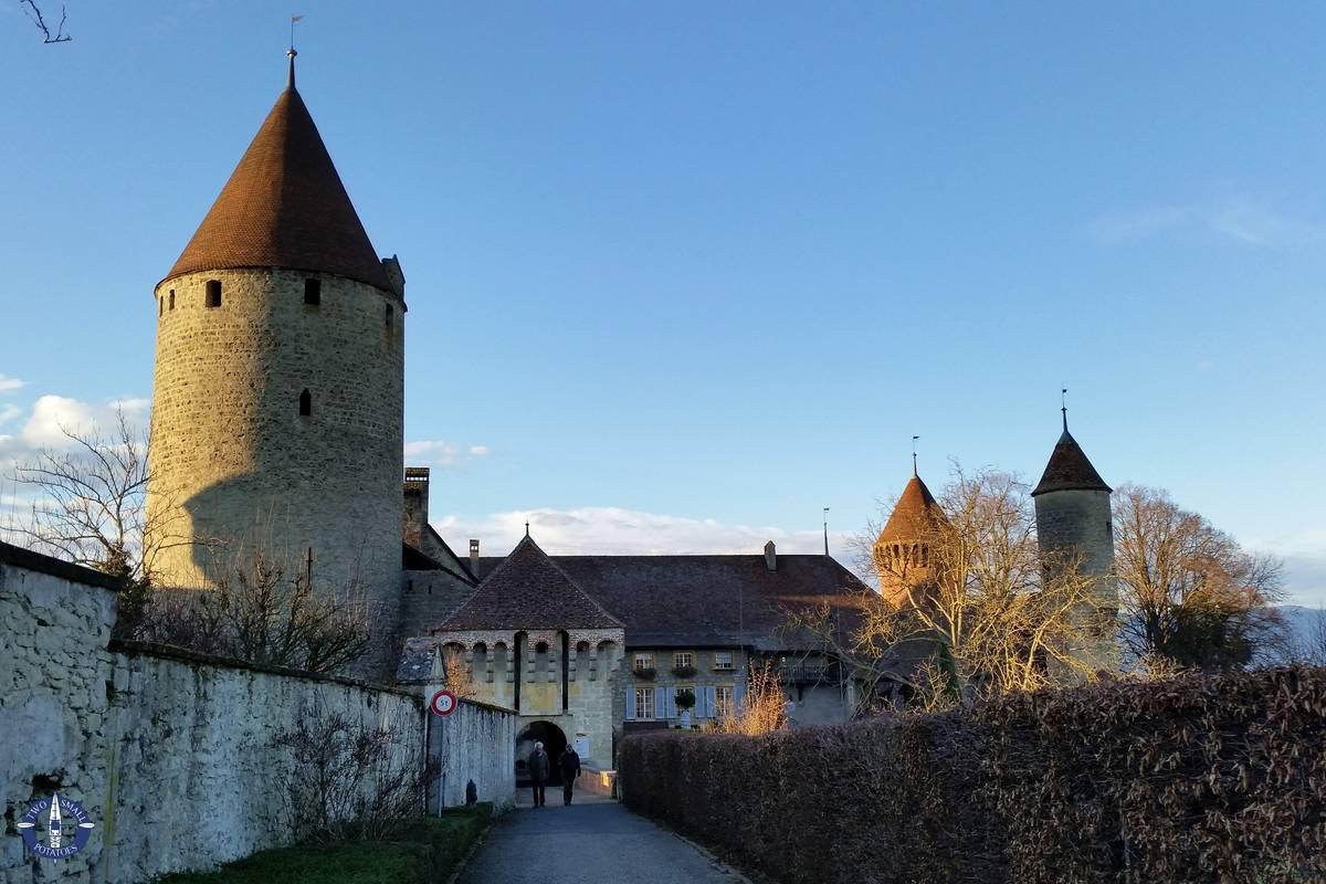Chateau de Chenaux in Estavayer le Lac, Switzerland