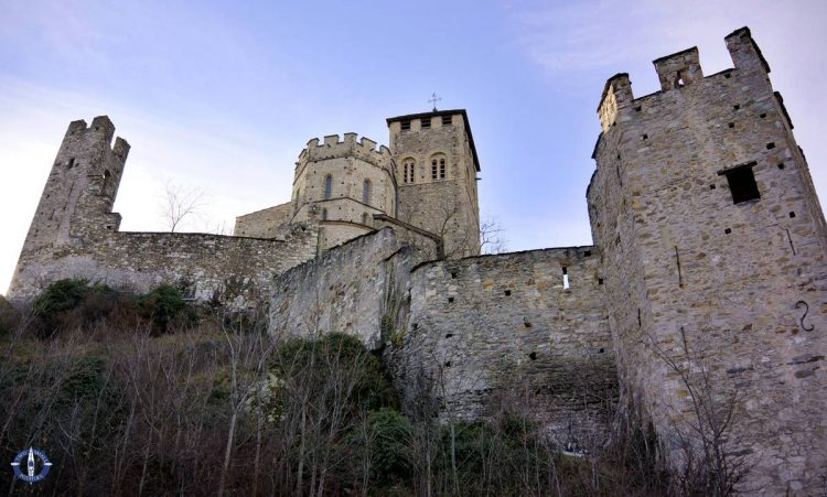 Ramparts of Valere Castle in Sion, Switzerland