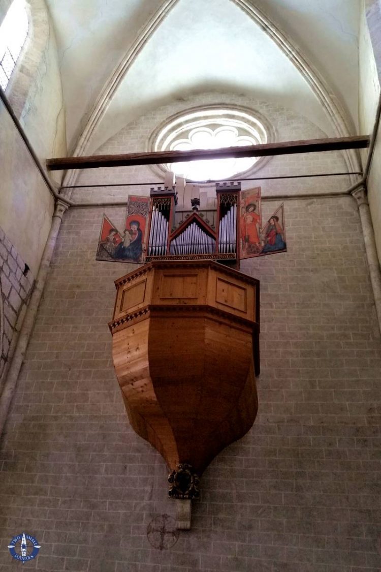 Organ from 1435 inside Valere Basilica in Sion, Switzerland