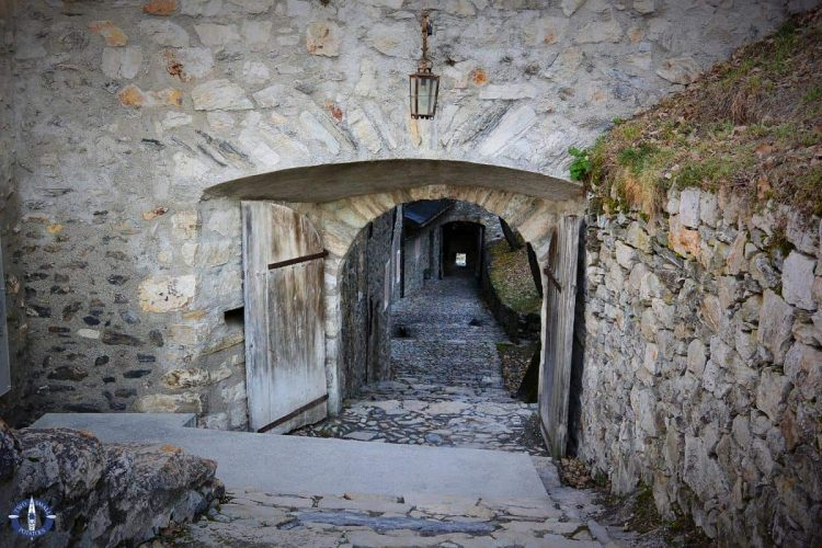 Castle path at Valere in Sion, Switzerland