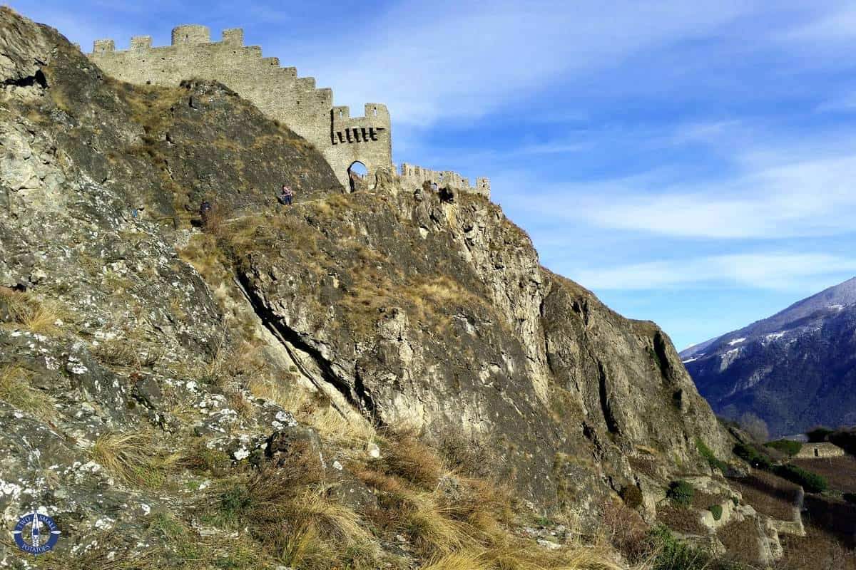 one of three castles in Sion, Switzerlands