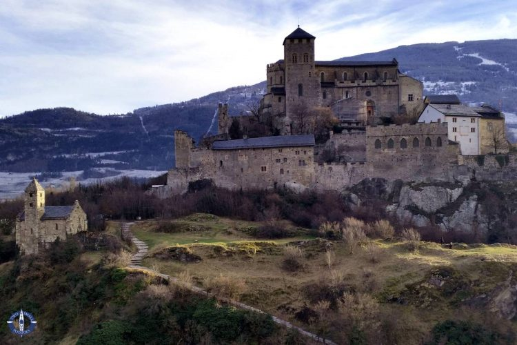 Valere Castle, one of the four castles in Sion, Switzerland
