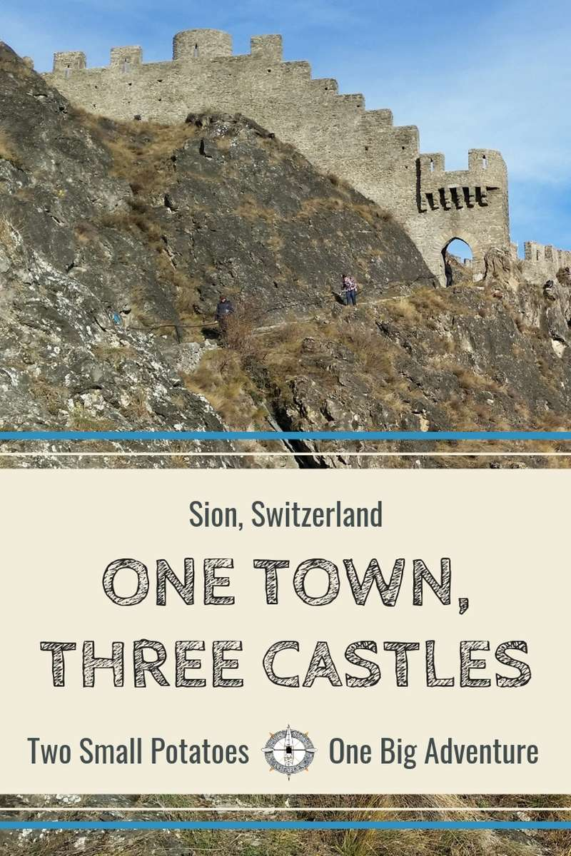 Nestled in Switzerland's southern sun-belt, the village of Sion features 3 medieval castles: Majorie Castle, Valère Castle, and Tourbillon Castle.