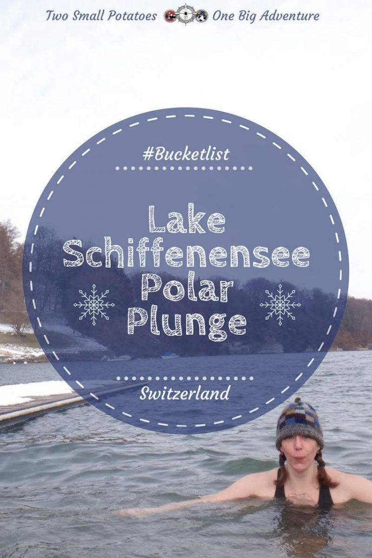PIN Lake Schiffenensee polar plunge by Two Small Potatoes Travel