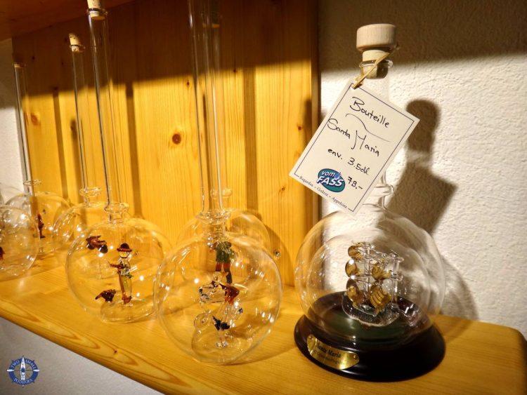 Pretty blown glass liqueur bottles for sale
