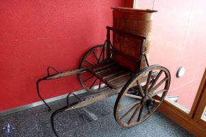 Old Swiss dog-cart for delivering milk pails