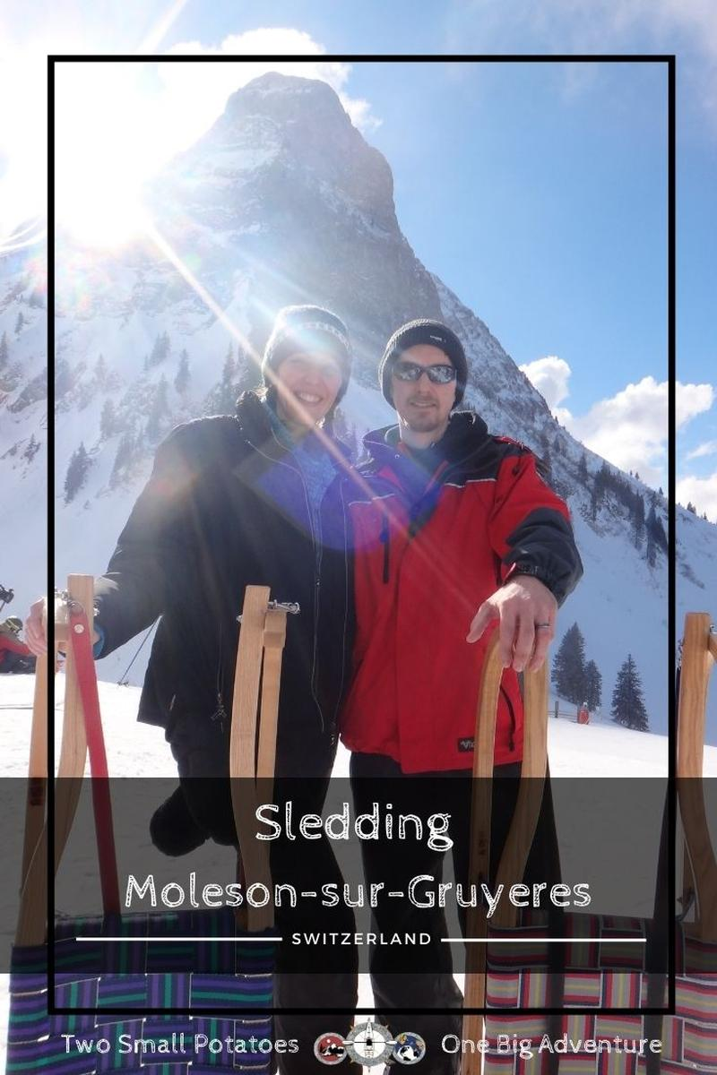 PIN 2, Sledding in Switzerland at Moleson by Two Small Potatoes Travel
