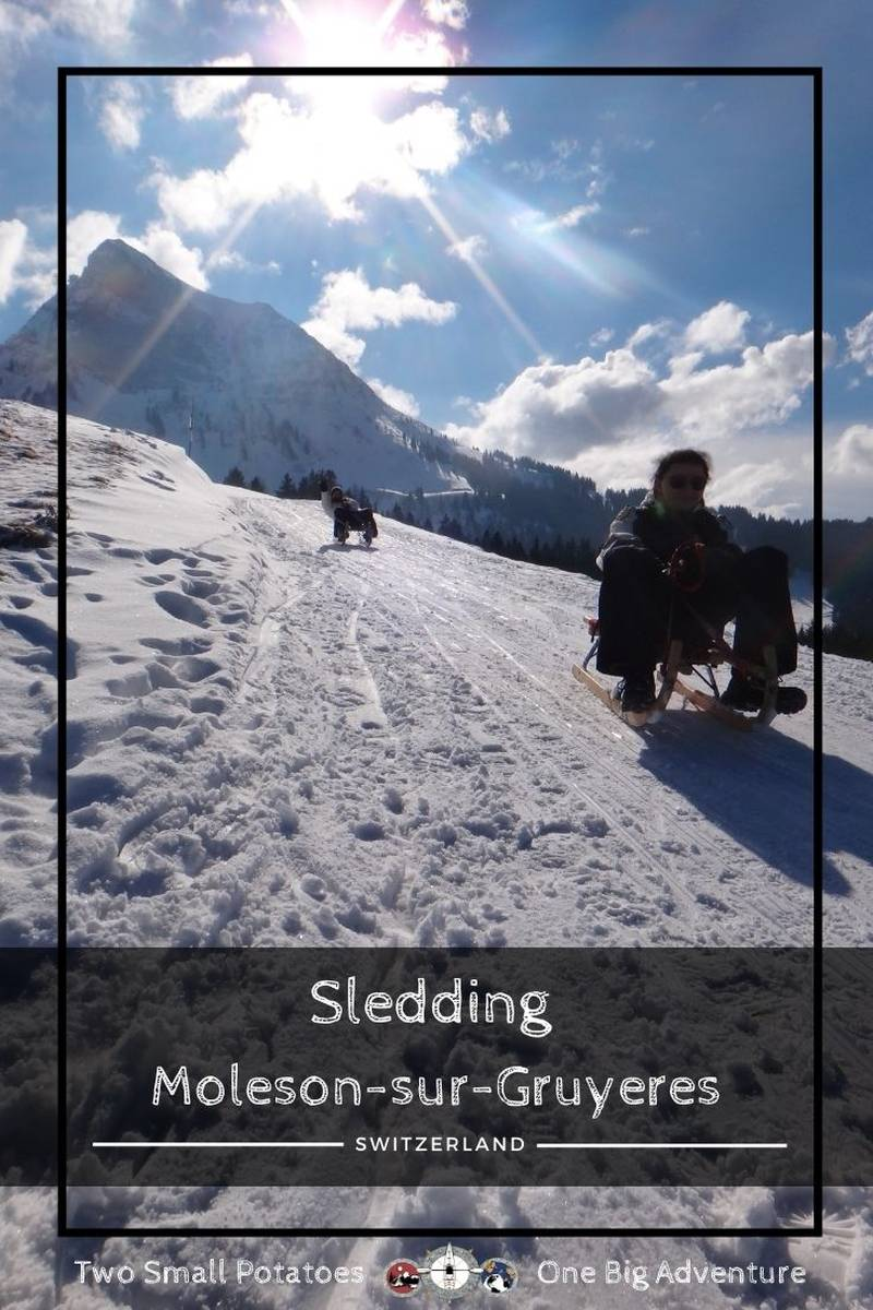 PIN, Sledding in Switzerland at Moleson by Two Small Potatoes Travel