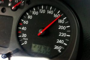 Our speedometer at 170 kmph on the German Autobahn