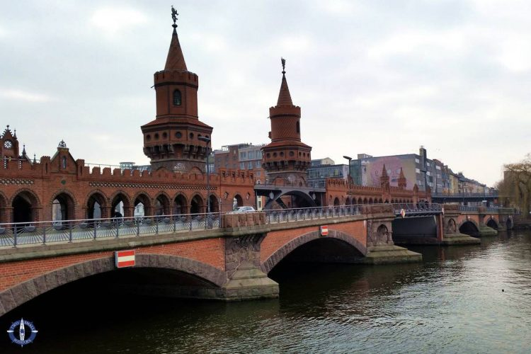 Oberbaum Bridge while sightseeing in Berlin, Germany