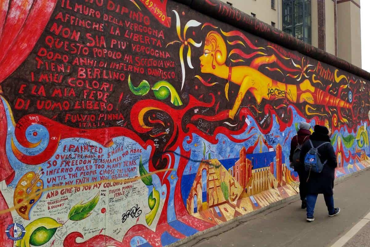 East Side Gallery mural while sightseeing in Berlin