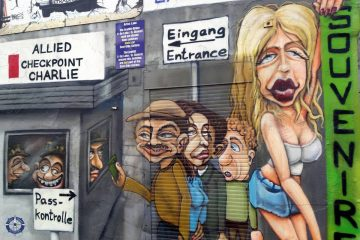 Checkpoint Charlie mural of Berlin's East Side Gallery