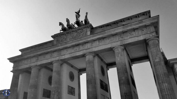 Brandenburg Gate while sightseeing in Berlin, Germany