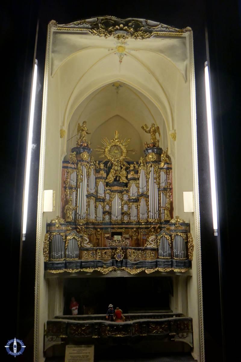 Miniature replica of future church organ in St Elizabeth Church, Wroclaw