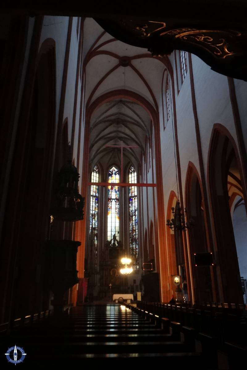 Interior of Church of St Elizabeth in Poland