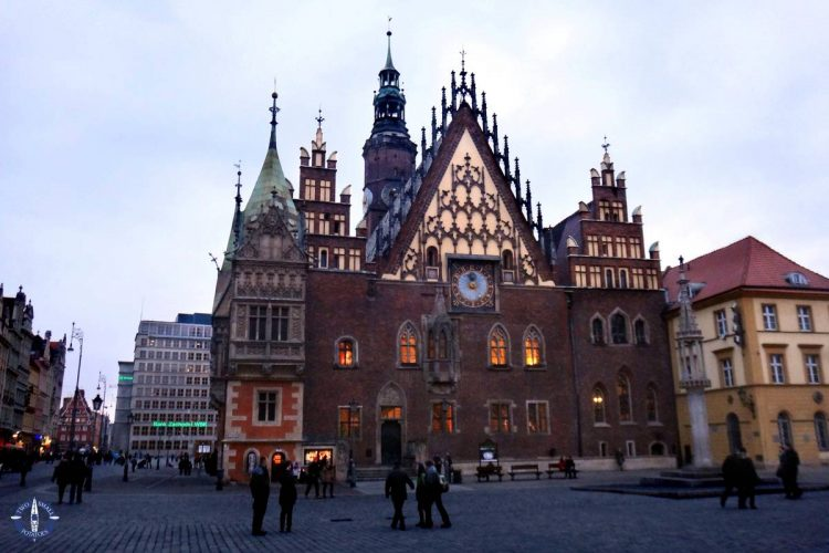 Stunning Gothic architecture of Wroclaw Town Hall in Poland