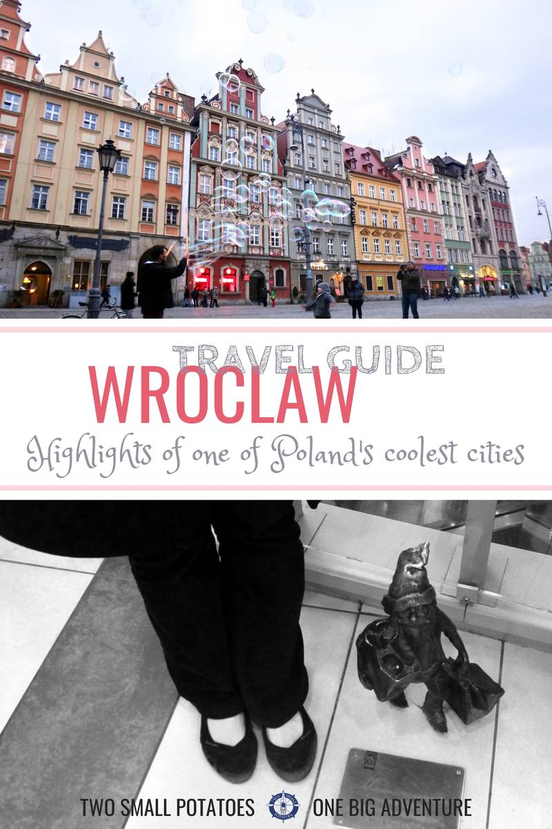 Pinterest pin, Highlights of Wroclaw Gnomenclature, Two Small Potatoes travel