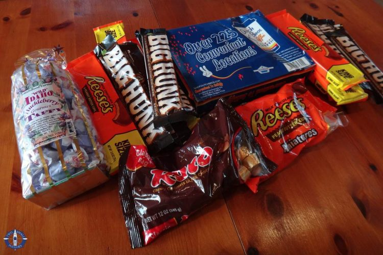 Goodies in our expat care package from Idaho