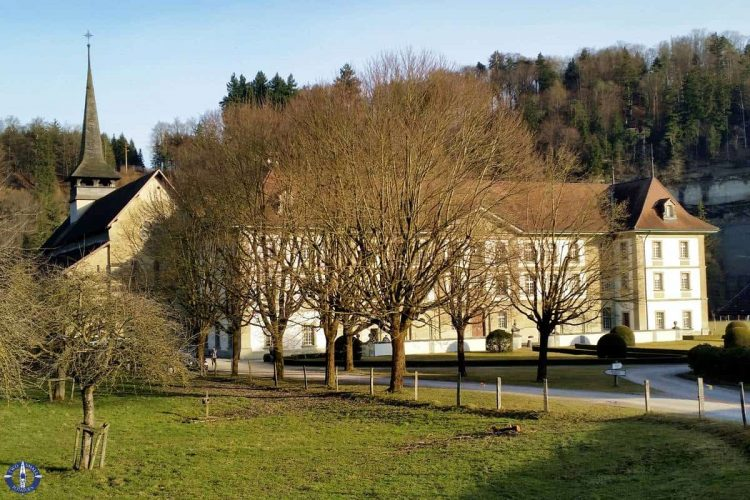 Exterior of Hauterive Abbey in Posieux, Switzerland