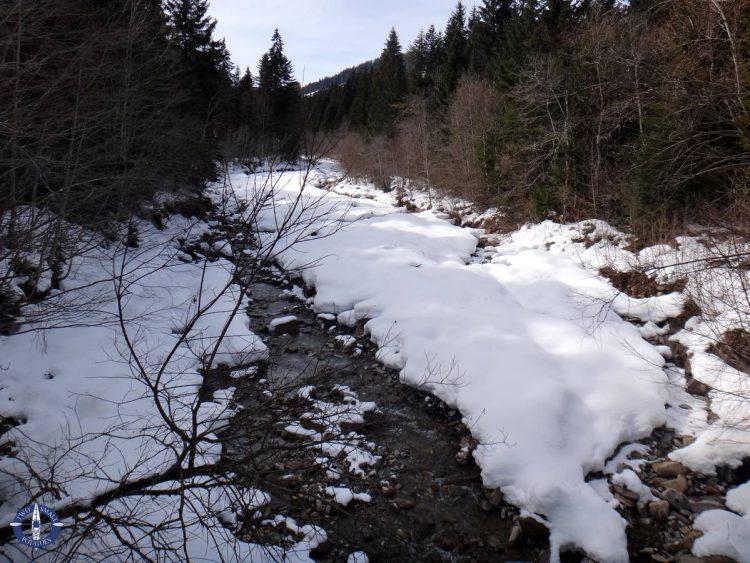 Creek near the parking area for La Berra, Switzerland