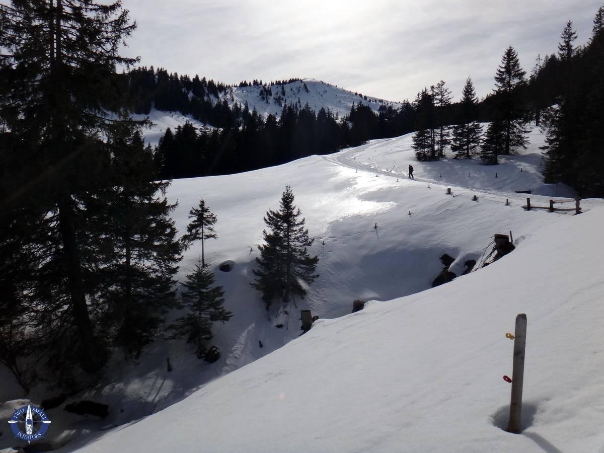 Snowshoeing La Berra in Switzerland
